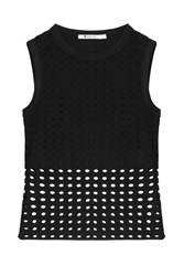 T By Alexander Wang Sleeveless Top With Cut Out Detail Black