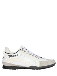 Dsquared Two Tone Leather And Nylon Sneakers