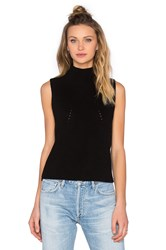 525 America Turtleneck Sleeveless Sweater Black
