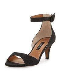 Kay Unger Sullia Leather Ankle Wrap Sandal Black