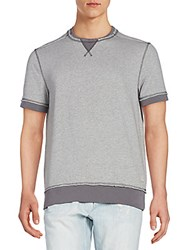 Ck Calvin Klein Raw Edge Knit Tee Charcoal