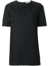 Givenchy Floral Lace Top Black
