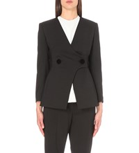 Sportmax V Neck Wool Blend Blazer Black