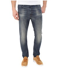 G Star Type C 3D Super Slim In Blue Delm Stretch Denim Dark Aged Antic Blue Delm Stretch Denim Dark Aged Antic Men's Jeans