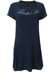 Zadig And Voltaire 'Rubica' Dress Blue
