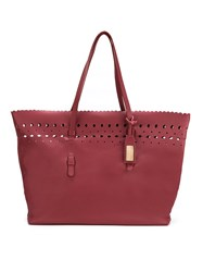 Sarah Chofakian Leather Tote Bag Red