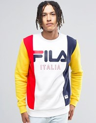 Fila Vintage Black Retro Sweatshirt White