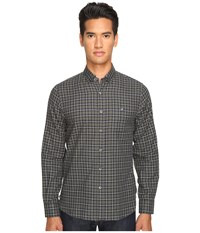 Todd Snyder Italian Heather Check Button Up Green Grey Men's Clothing
