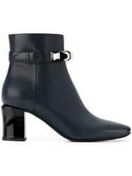 Fendi Stud Detail Boots Blue