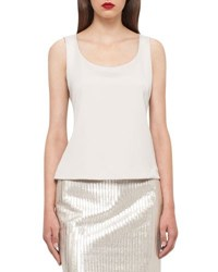 Akris Stretch Silk Camisole Silver