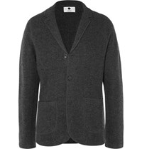 Nn.07 Nn07 Grey Wallace Lim Fit Untructured Boiled Wool Blazer Gray