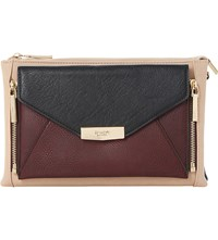 Dune Engellie Removable Pouch Clutch Bag Berry Plain Synthetic