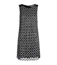 Diane Von Furstenberg Joylyn Sequin Lattice Dress Female Black