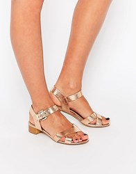 Head Over Heels By Dune Nadie Nude Mid Heel Sandals Nude Gold