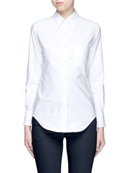 Thom Browne Cotton Oxford Shirt White