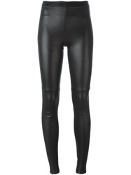 Plein Sud Jeans Leather Leggings Black