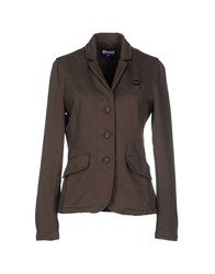 Blauer Suits And Jackets Blazers Women Military Green