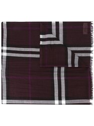 Burberry House Check Scarf Red