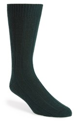 Men's John W. Nordstrom Cable Knit Socks Green Hunter Green