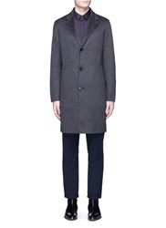 Theory 'Delancey Dw' Double Faced Cashmere Coat Grey