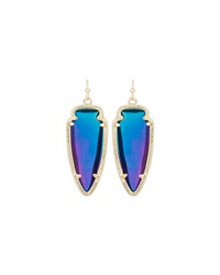Kendra Scott Sky Iridescent Crystal Earrings Black