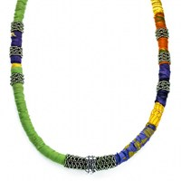 The Studioelle Colorburst Crystal Bubble Necklace Silver