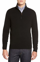 Men's Big And Tall John W. Nordstrom Quarter Zip Cashmere Sweater Black Caviar