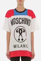 Moschino Printed Front Back Cotton T Shirt Multi