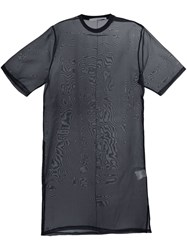 Givenchy Sheer Oversized T Shirt Black