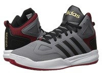 Adidas Cloudfoam Thunder Mid Grey Black Power Red Men's Basketball Shoes Gray