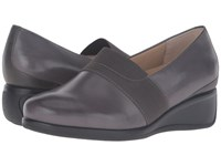Trotters Marley Dark Grey Tumbled Leather Women's Slip On Shoes Gray
