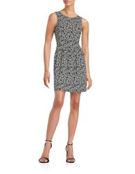 Ivanka Trump Patterned Fit And Flare Dress Ivory Black