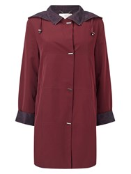 Jacques Vert Classic Mid Length Mac Red