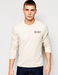 Franklin And Marshall Long Sleeve Crew Neck Top Bonewhite