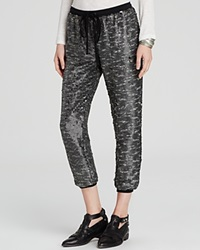Free People Pants Drippy Knit Sequin Jogger