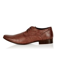 River Island Mens Brown Pointed Toe Formal Shoes