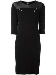 Class Roberto Cavalli Embellished Fitted Midi Dress Black