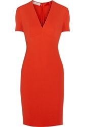 Stella Mccartney Annamaria Stretch Cady Pencil Dress Orange