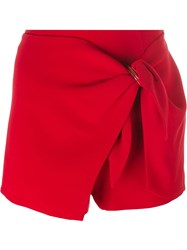 Ermanno Scervino Wrapped Detail Shorts Red