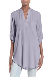 Women's Lush 'Perfect' Roll Tab Sleeve Tunic Misty Lilac