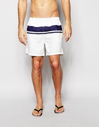 Farah Monroe Stripe Swim Shorts White