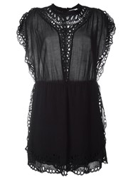 Iro Broderie Anglaise Detail Dress Black