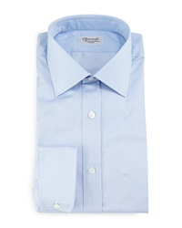 Charvet Thin Striped Dress Shirt Light Blue