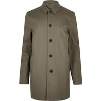 River Island Mens Grey Smart Button Up Overcoat
