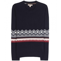 Burberry Wool And Cashmere Sweater Military Navy