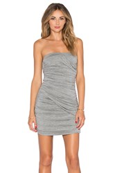 Blaque Label Ruched Strapless Dress Gray