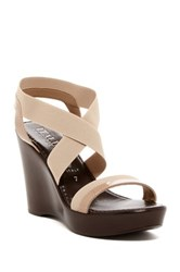 Italian Shoemakers Marnie Platform Wedge Sandal Beige