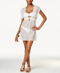 Becca Crochet Lace Tunic Cover Up Women's Swimsuit