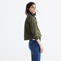 Madewell Rivet And Thread Garment Dyed Crop Jacket