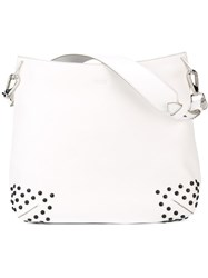 Tod's Large Studded Tote White